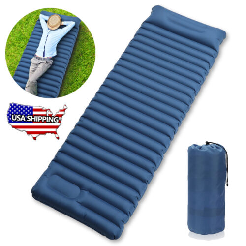 Self Inflating Mat Outdoor Tent Sleeping Pad Hiking Pillow A