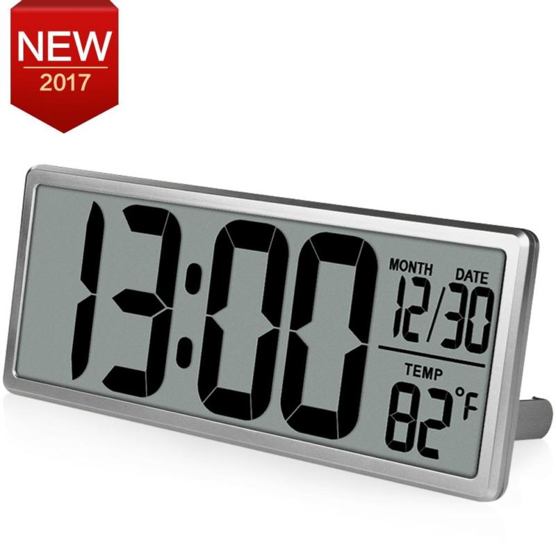 "TXL 13.8"" Jumbo Digital Large LCD Display Alarm Clock ,Wall Clock with Oversized"