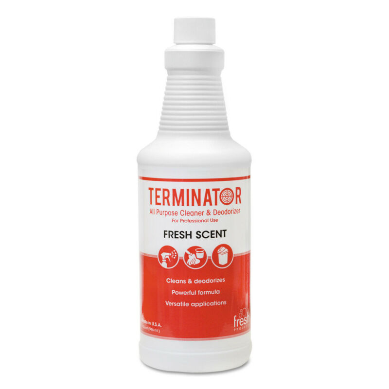 Fresh Products Terminator Deodorizer All-Purpose Cleaner, 32oz Bottles, 12/carto