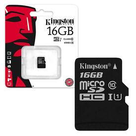 Kingston 16GB Micro SD Memory Card (Brand New Sealed)