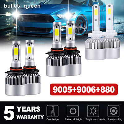9005 9006 880 LED Headlight + Fog Lights for Nissan Armada 05-10 Titan 2004-2015 2008 Nissan Armada Replacement