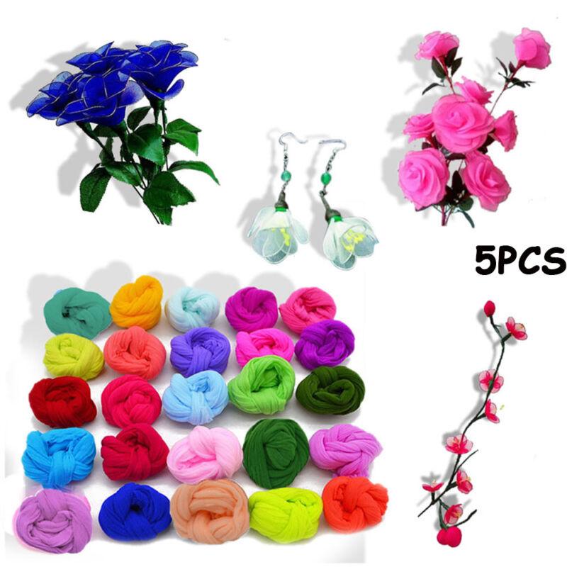 Home Decor Nylon Stocking Artificial Flower Accessory Silk screen Tensile