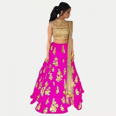 Party Wear Indian Pakistani Designer Wedding Silk Lehenga Ethnic Lengha Choli