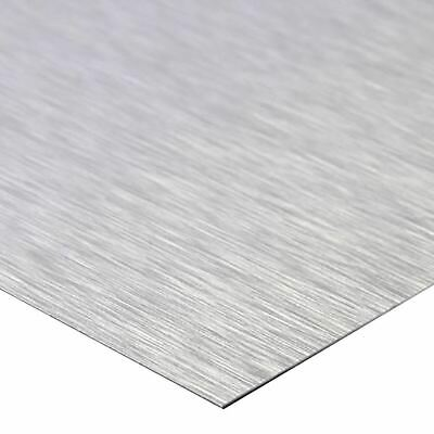 Brite Brushed Clear Anodized Aluminum Sheet 0.040 X 12 X 24