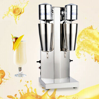 Commercial Stainless Milk Shake Machine Double Head Drink Mixer 18000rmp 110v