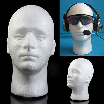 Usa White Male Foam Mannequin Manikin Head Glasses Hat Wig Display Stand Durable