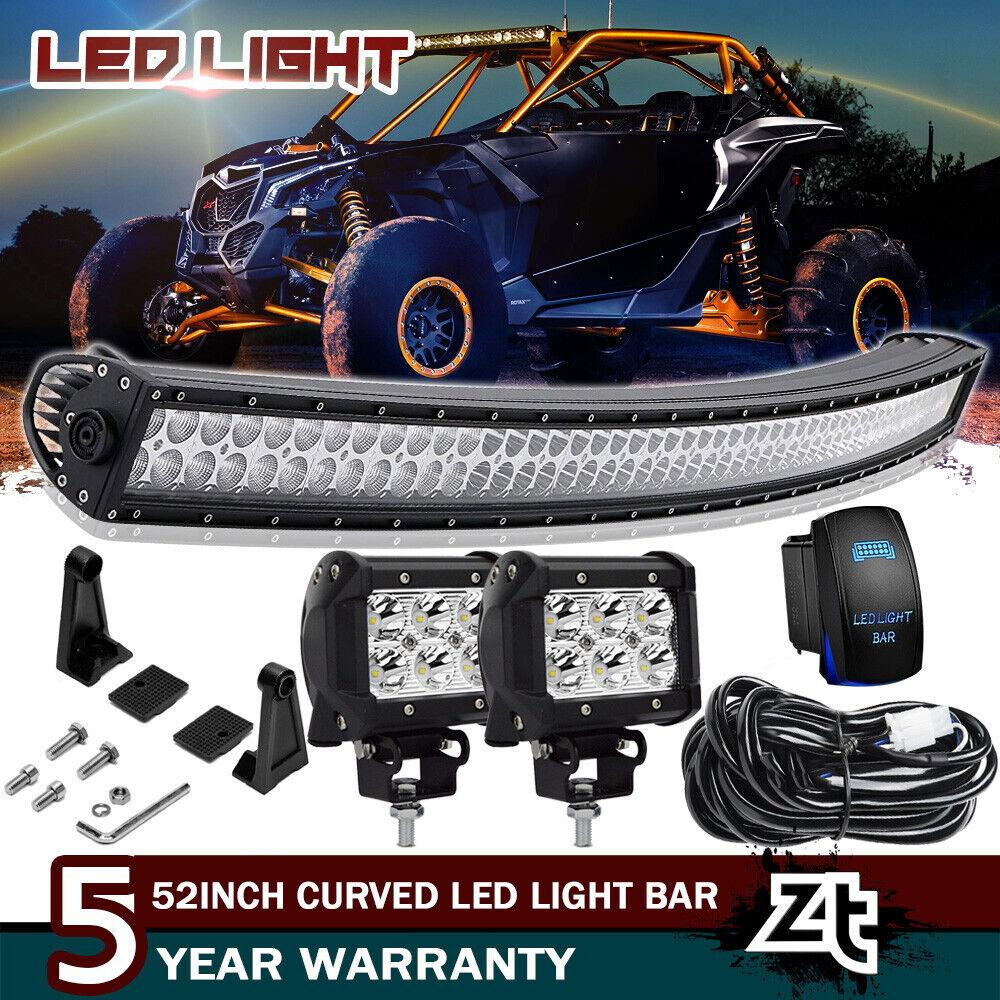 12Inch 72W Bumper LED Combo Light Bar Fit For Can-Am Maverick X3 1000 Commander