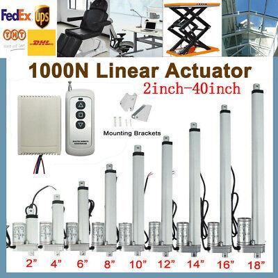 Electric Linear Actuator Cylinder Lift Stroke 50-1000mm Dc12v 24v 1000n 10mms
