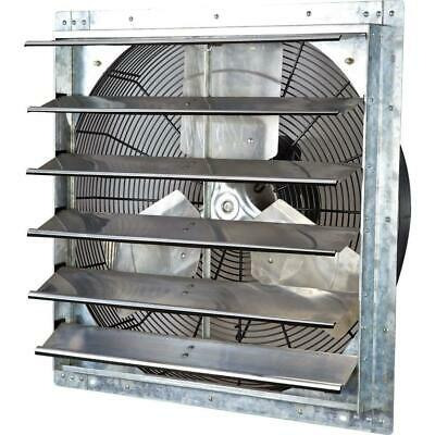 4200 cfm power 24 in. variable speed shutter exhaust fan | iliving garage inch