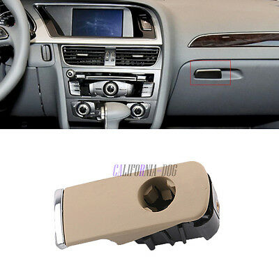 OEM Chrome Glove Box Lock Lid Handle With Hole LHD For Audi 8E A4 B6 B7 Seat New