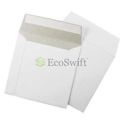 100 - 6 X 6 White Cddvd Photo Ship Flats Cardboard Envelope Mailer Mailers