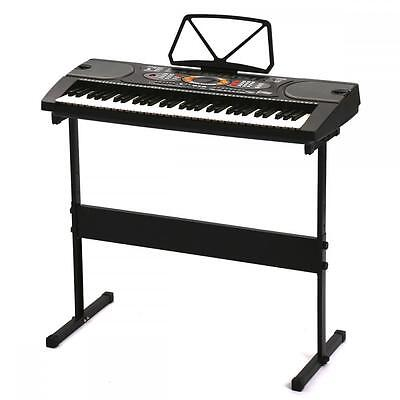61 Key Music Electronic Keyboard Electric Digital Piano Organ w/Stand Black 61H