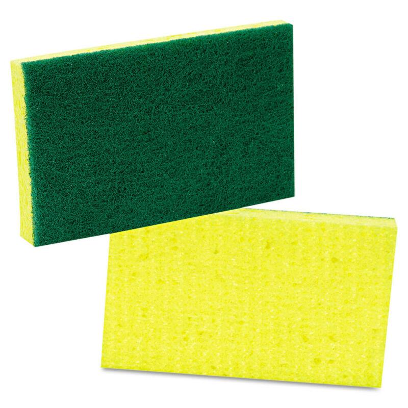 3M Medium-Duty Scrubbing Sponge, 3 1/2 X 6 1/4, Yellow/green, 20/carton 74 NEW