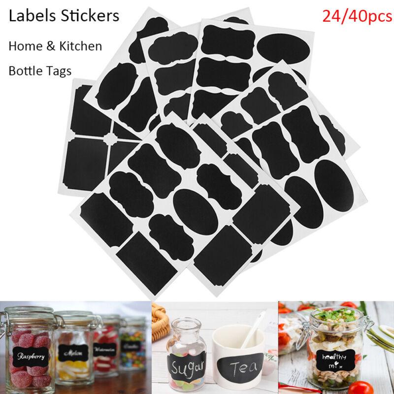 Jam Jar Spice Labels Stickers Bottle Tags Chalkboard Labels Blackboard Label