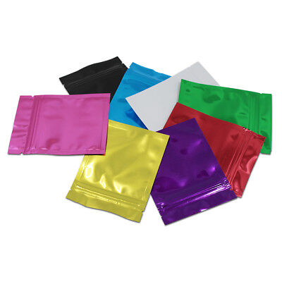 Small 6x8cm Colorful Mylar Aluminum Foil Zip Lock Bag Reclosable Storage Pouch