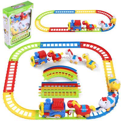 Musical Animal Horses Friends Electric Train And Track Play Set Christmas Gift