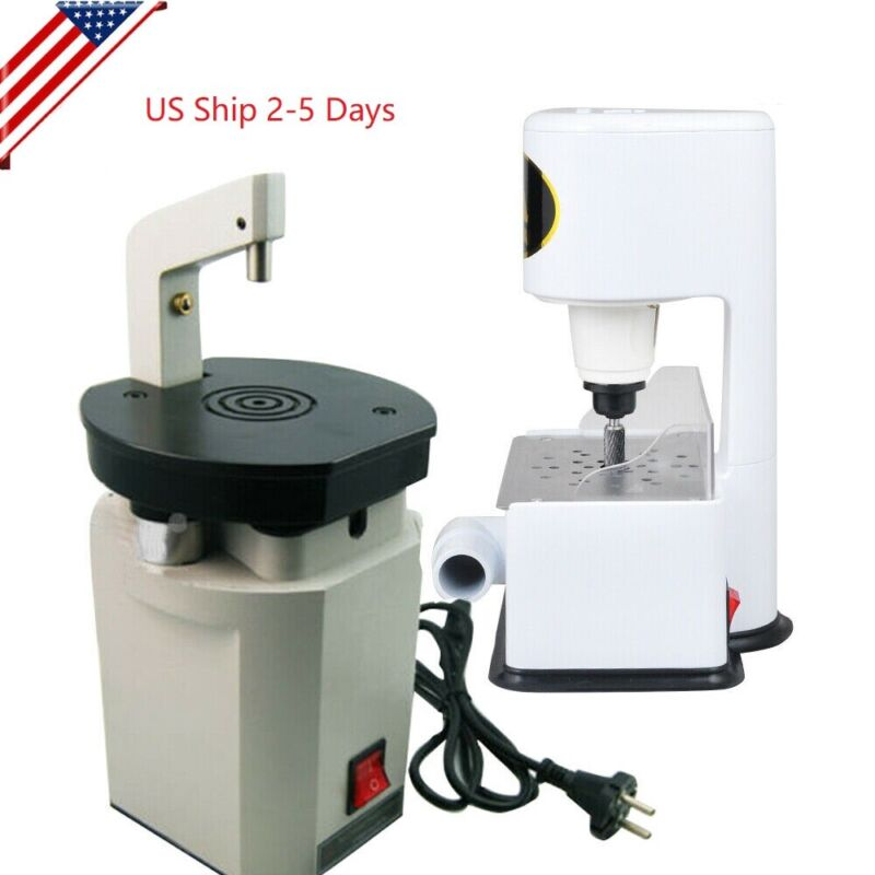 Dental Laser Pindex Drill Pin System +Grind Inner Arch Trimmer Machine 4500rpm