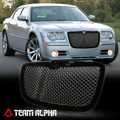 Fits 2005-2010 Chrysler 300/300C  Glossy Black Bumper Grille Grill