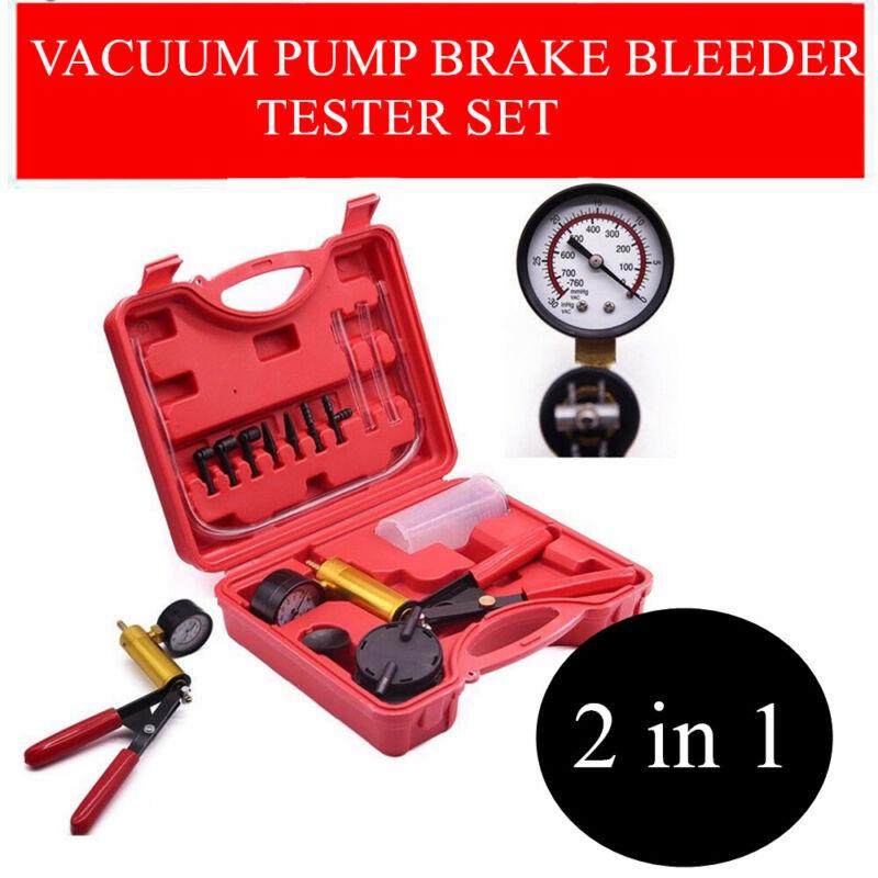 Manual Car Auto Brake Bleeder Vacuum Pressure Pump Tester Tool Kit Pistol Fluid
