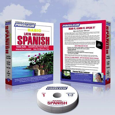 NEW 5 CD Pimsleur Learn to Speak  SPANISH Course ( Learn in Your Car)