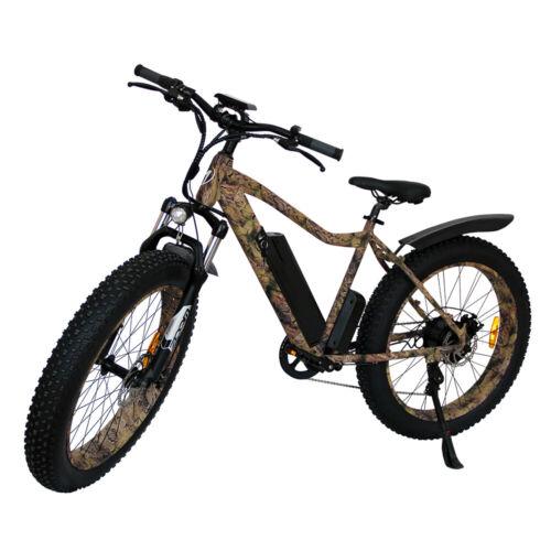 "AOSTIRMOTOR S07-2 Electric Mountain Bicycle 750W 48VLi-Battery 26"" FatTire Ebike"