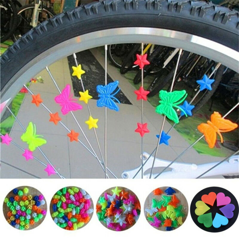 36x Bike Spokies Colourful Bike Bicycle Wheel Spoke Beads Clip On Multi Coloured