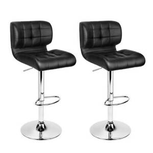 cb-ux-4059-cly2 Artiss Set of 2 PU Leather Gas Lift Bar Stools -