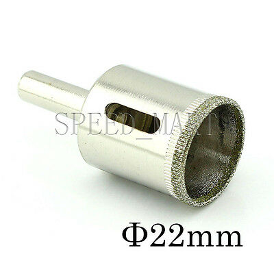 22mm Diamond Coated Hole Saw Core Drills Drill Bit Glass Tile Marble Ceramic