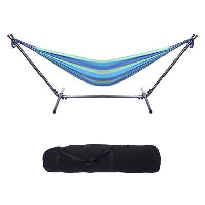 Portable Hammock Stand Outdoor Patio Camping Beach Double 2