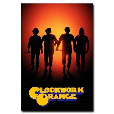 A Clockwork Orange 24x36inch Classic Movie Silk Poster Pub Shop Decoration