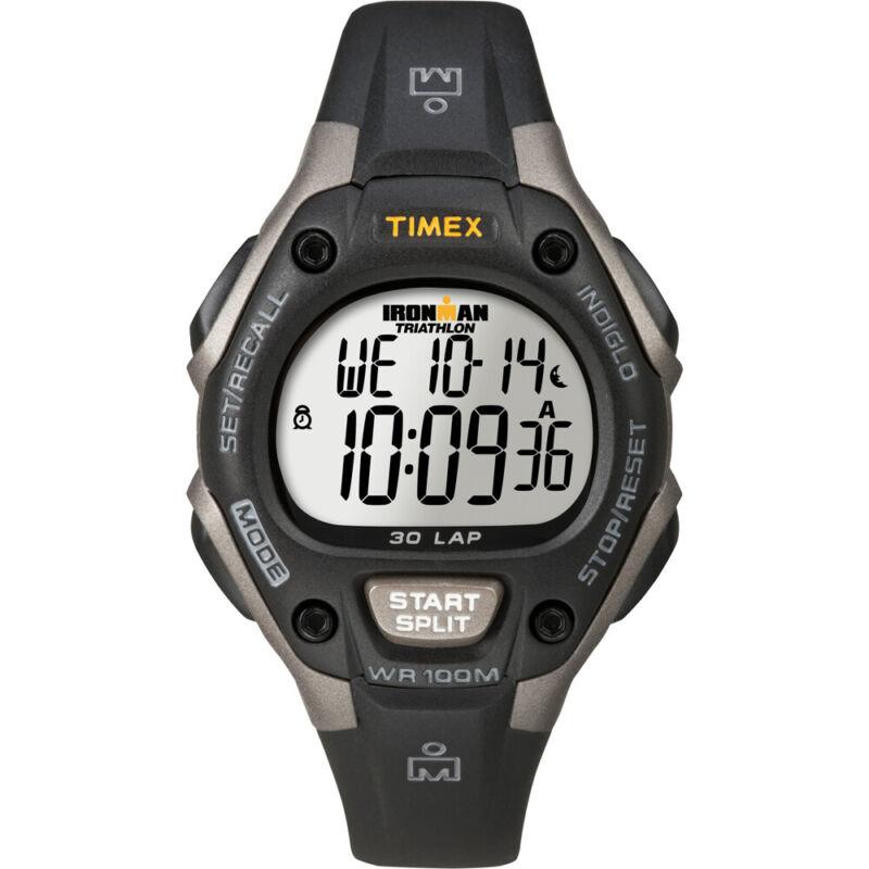 Timex Ironman Triathlon 30 Lap Mid Size - Black/Silver  (T5E961)
