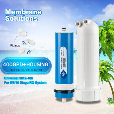 400GPD RO Filter Desalination Water Purifier+Housing+Fittings Soften for Drink