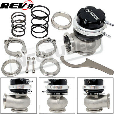 Rev9 RS 40mm V Band Wastegate Actuator Black w/ 5 10 11 psi Spring Clamp -