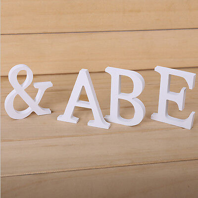 1pc large white letters alphabet wall hanging wedding party home decor 26style ebay. Black Bedroom Furniture Sets. Home Design Ideas