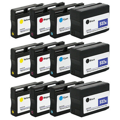 12PK 932 XL 933 XL Ink Cartridge for HP Officejet 6100 6700 6600 7610 7612 7100