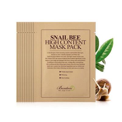 [BENTON] Snail Bee High Content Mask Pack - 10pcs / Free Gift