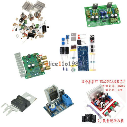 TDA2030 TDA2030A Audio Power Amplifier Arduino Components 18Wx2 15W+15W  DIY Kit