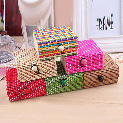 Natural Pure Bamboo Storage Box Home Organizer Jewelry Boxes Wooden Trinket Case
