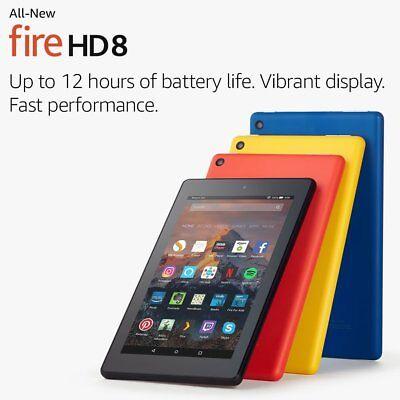 "Kindle Fire HD 8 Tablet with Alexa, 8"", 16GB - U.K. stock latest model BLACK!!!"
