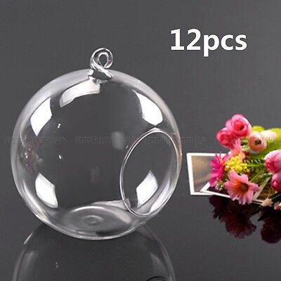 12 Flower Hanging Vase Ball Plant Terrarium Container Glass Home Wedding Decor ()