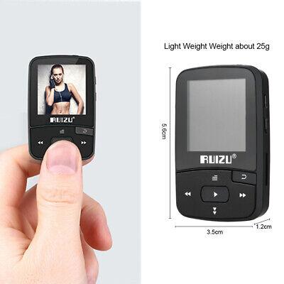 RUIZU X50 8GB Bluetooth Sport MP3 Player Tragbares Audio mit eingebautem FM T3C4