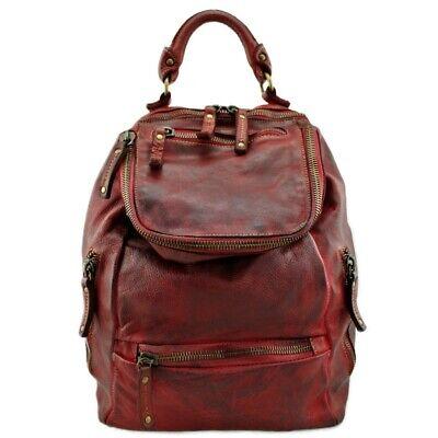 Rucksack aus Leder Tönung Capo, Made IN Italy, Bayside BS 484 Rock Farben Versch online kaufen