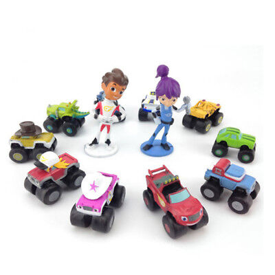 12 PCS Blaze And The Monster Machines Vehicle Action Figure Cake Topper Gift Toy (Monster Machine)