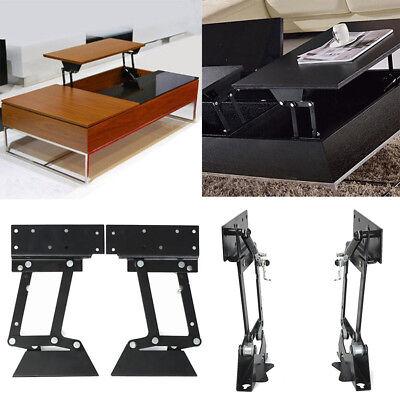 1 Pair Heavy Duty Lift Up Top Coffee Table Furniture Mechanism Hinge Hardware ()