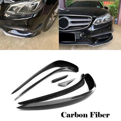 für Mercedes W212 E350 14-16Carbon Flaps Splitter Front Stoßstange SpoilerCanard