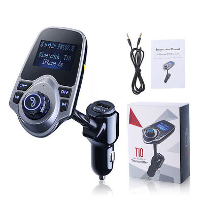 Wireless In-Car Bluetooth 4.0 FM Transmitter Radio Adapter MP3 Player Car Kit