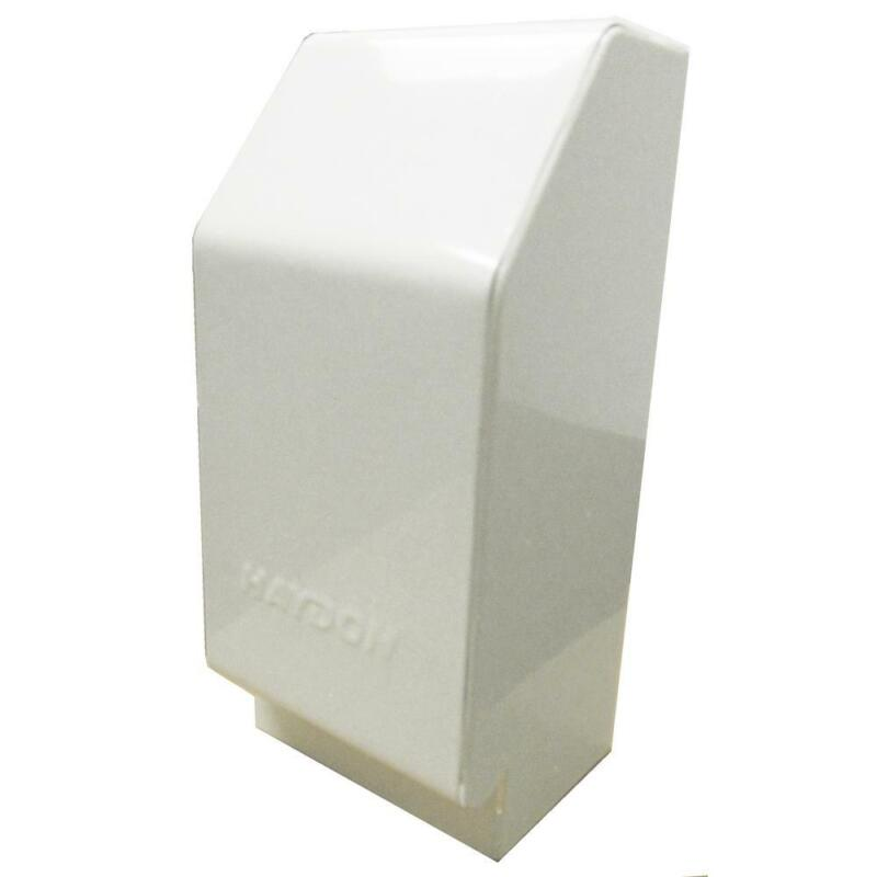 Baseboard Heater Cover Heat Base 3 in. White Right Hand End