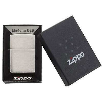 Zippo Windproof Lighter 200 Brushed Chrome Finish