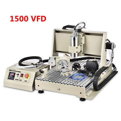 Usb 345 Axis Cnc 6040 Router Engraver Milling Drilling Machine Cutter 1.5kw Ce