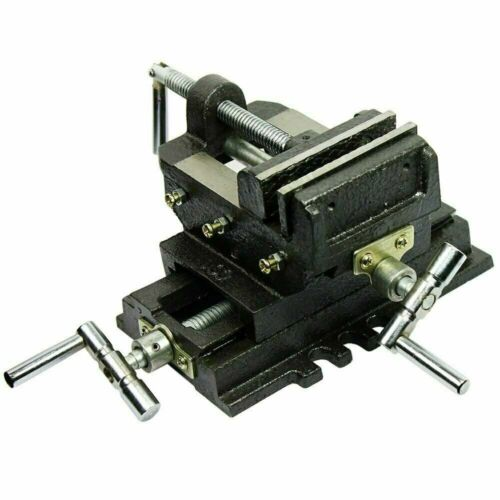 "4"" Cross Drill Press X-Y Clamp Machine Vise Metal Milling Slide 2 Way HD"